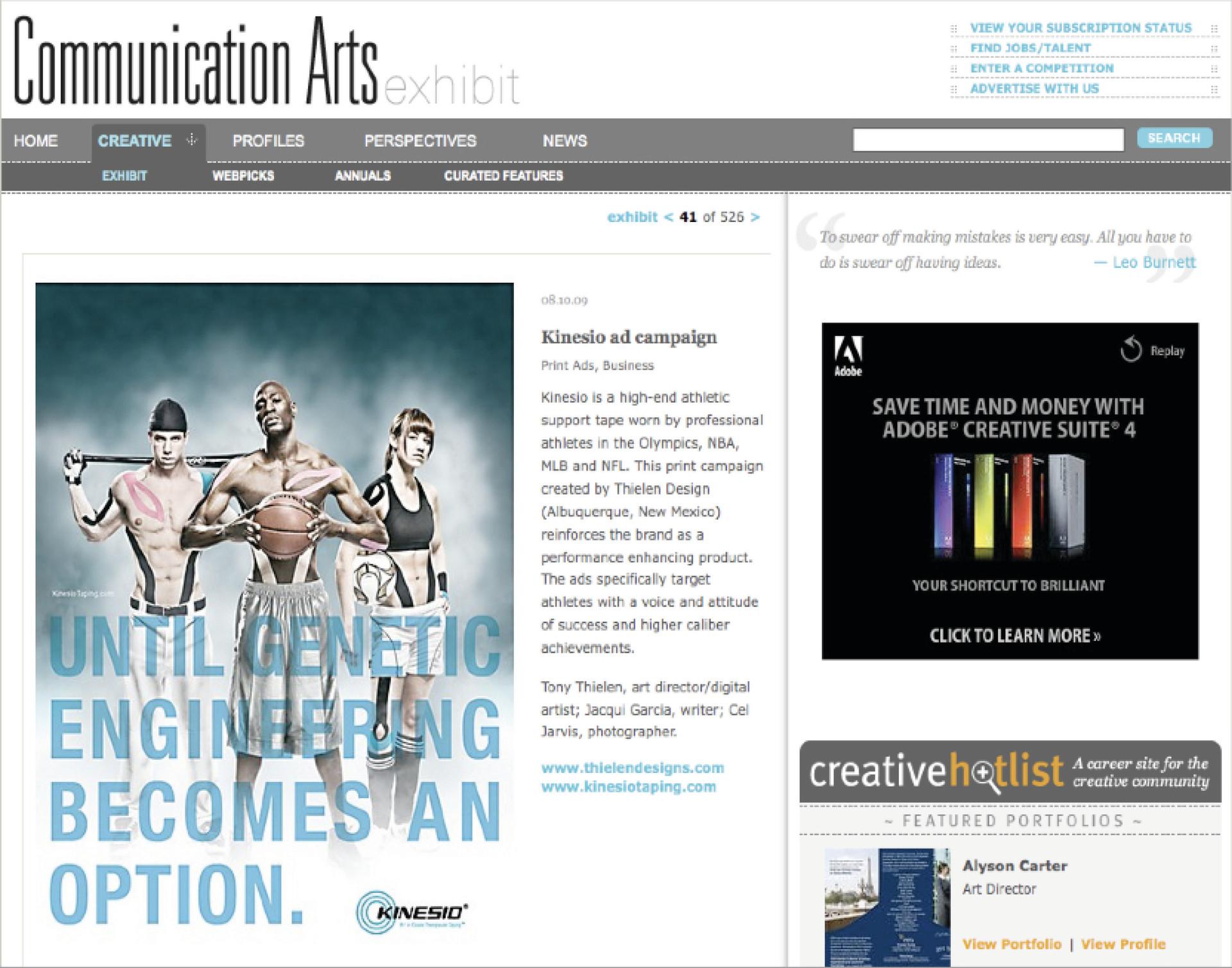 Communications Arts Exhibit Feature