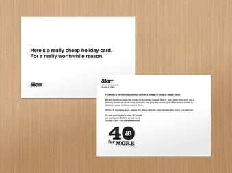 40 for More Postcard