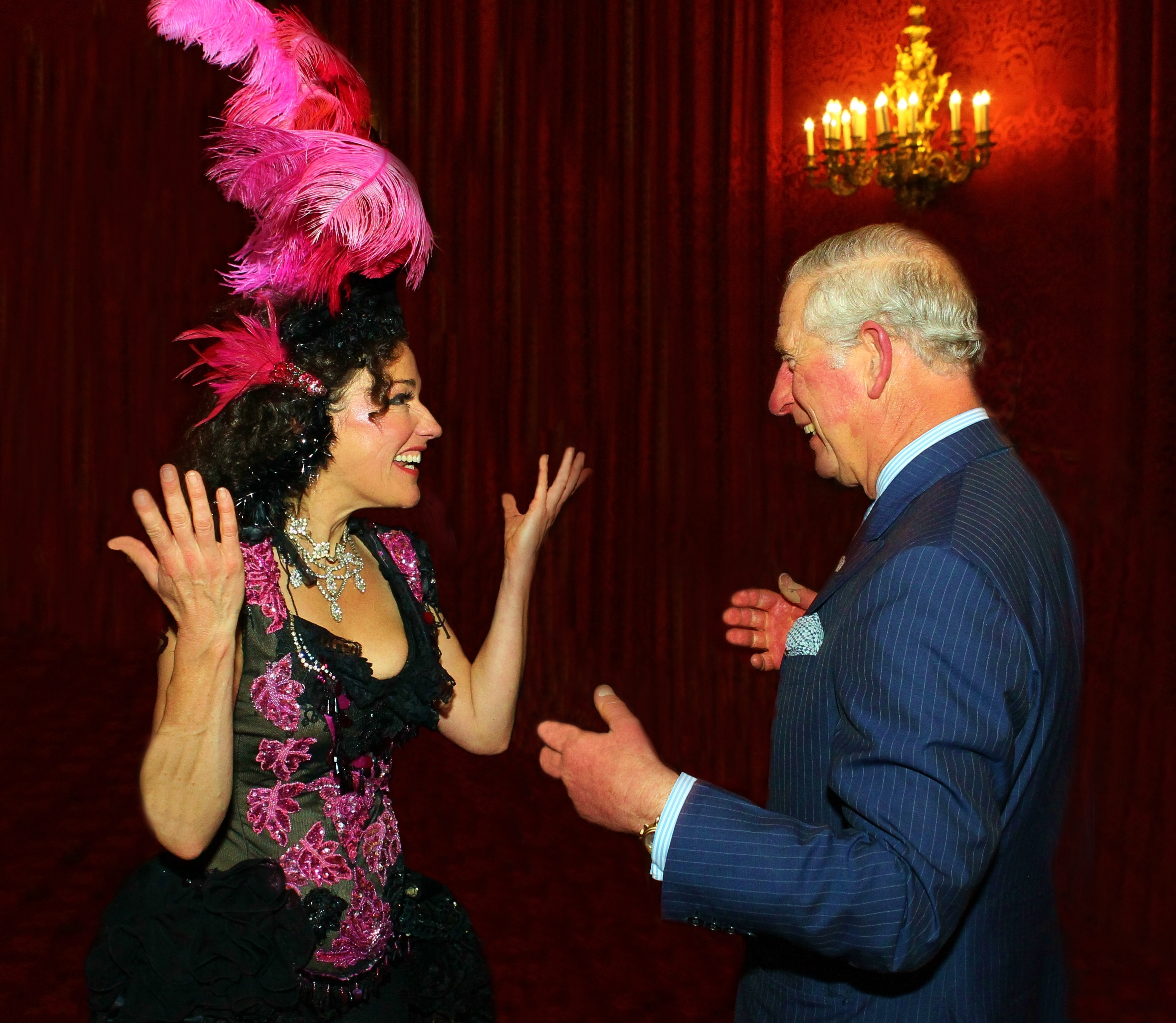 With Prince Charles!