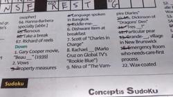 Metro Newspaper Crossword