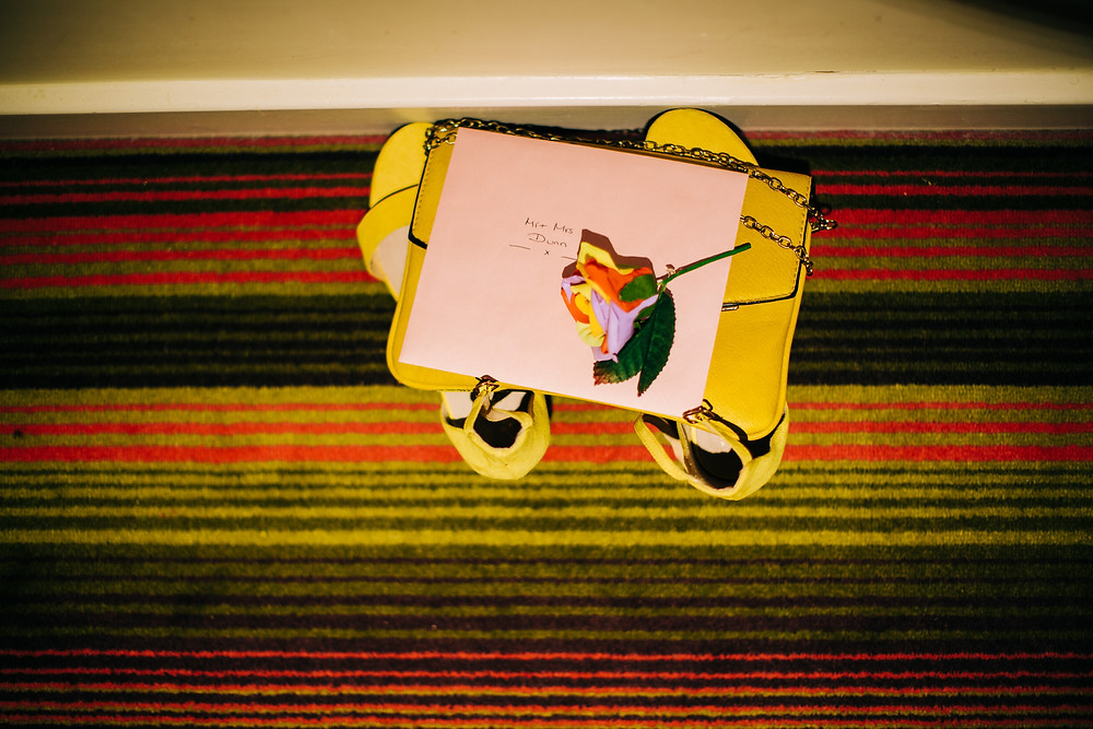 Colourful details of wedding preparation at Holiday Inn Newcastle