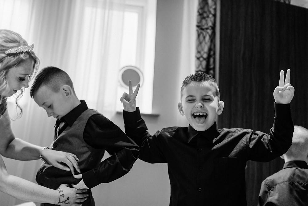 Black and white documentary style shot of bridal prep at Holiday Inn Jesmond