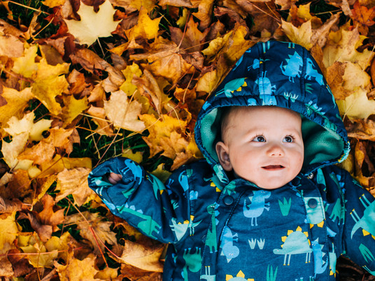 autumn baby session - Elliot and Lucy