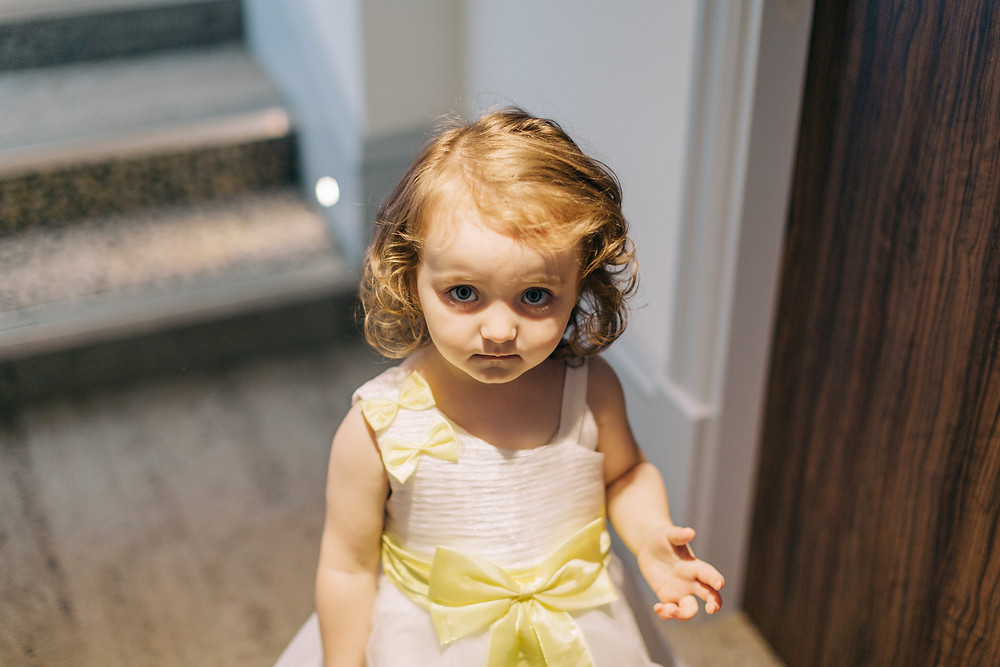 Documentary style photo of Bride's daughter taken at Holiday Inn Jesmond Newcastle