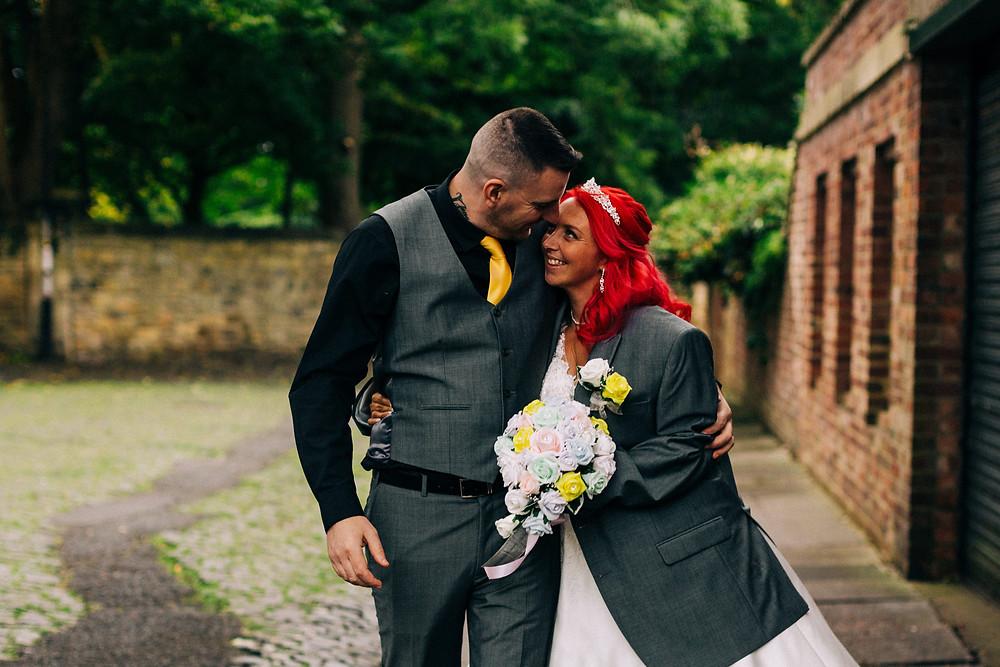 Colourful wedding photography taken in leafy Jesmond near Newcastle city centre