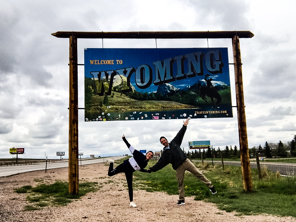 Wyoming welcome sign