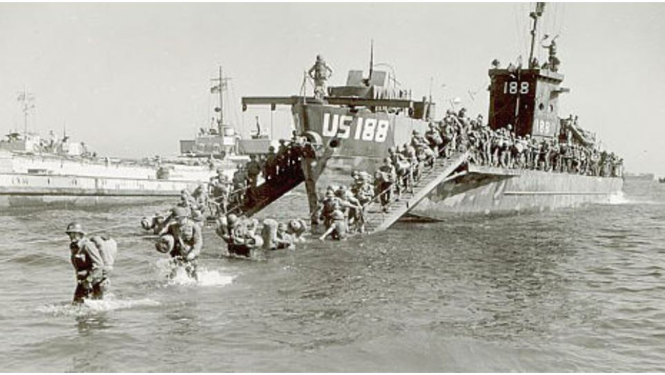 WW2 beach landing southern France