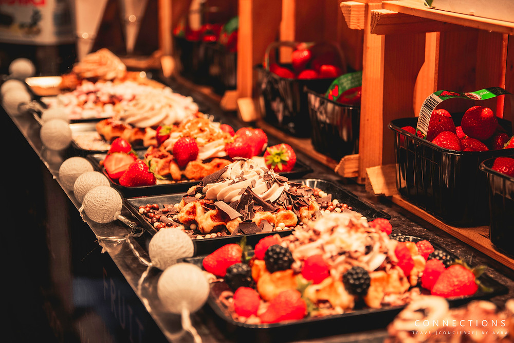 Belgium Waffles Brussels Christmas Market