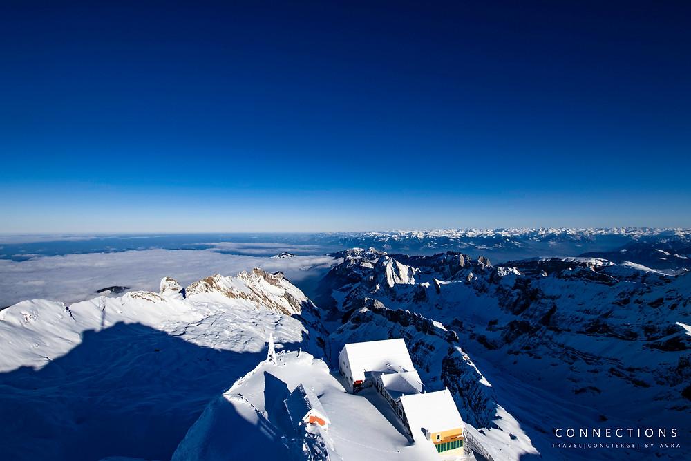 On top of the Swiss Alps- Santis, Switzerland