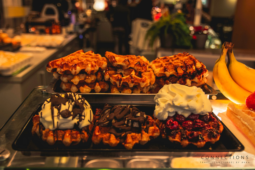 Authenticate Belgium Waffles. Brussels Christmas Market