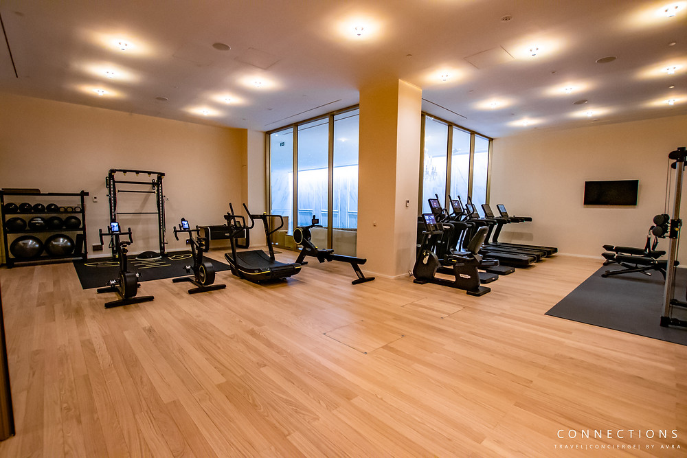gym, workout facility at mandarian oriental in Madrid