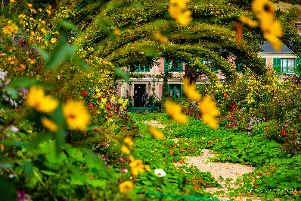 View of Monet's house from his garden.