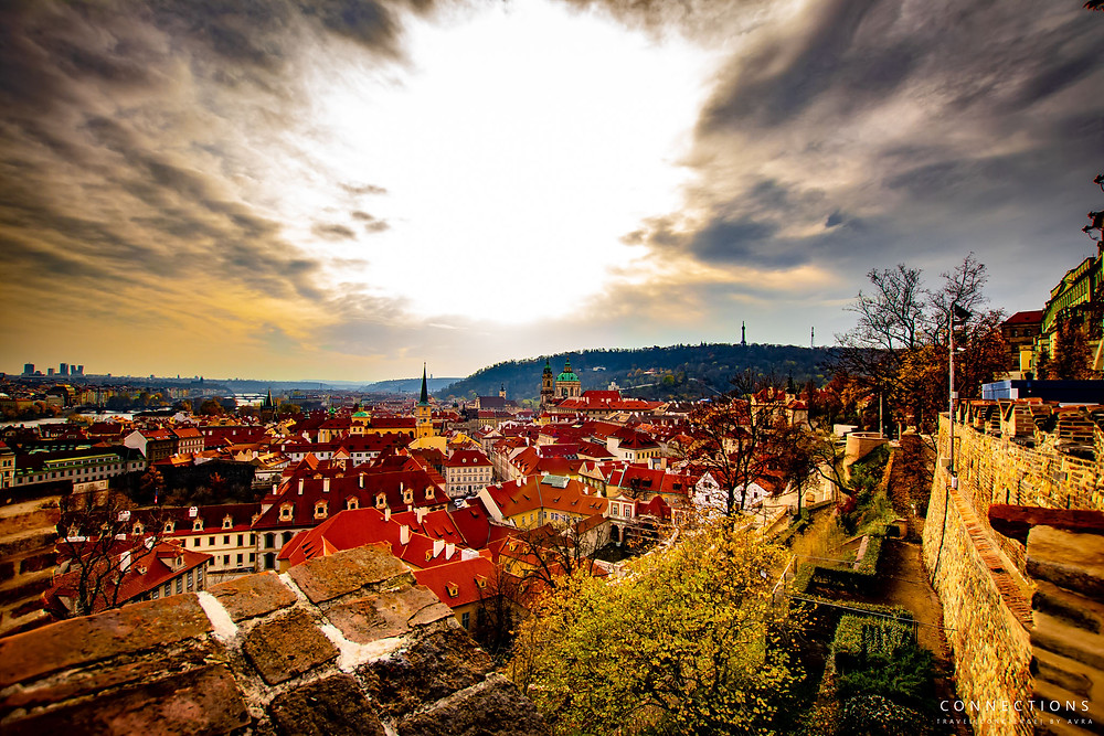 Prague, Czech Republic  view overlooking city