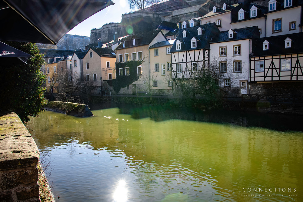 The Alzette River. Luxembourg, City