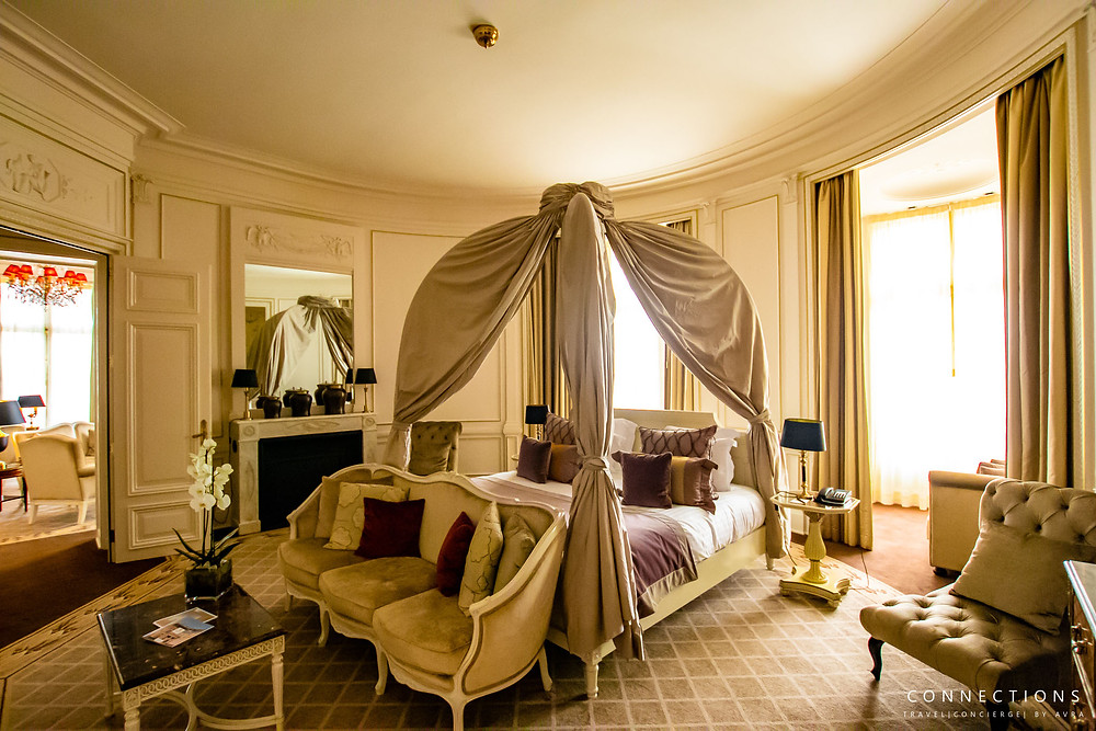 Bedroom in the Royal Suite at Chateau Mont Royal Chantilly