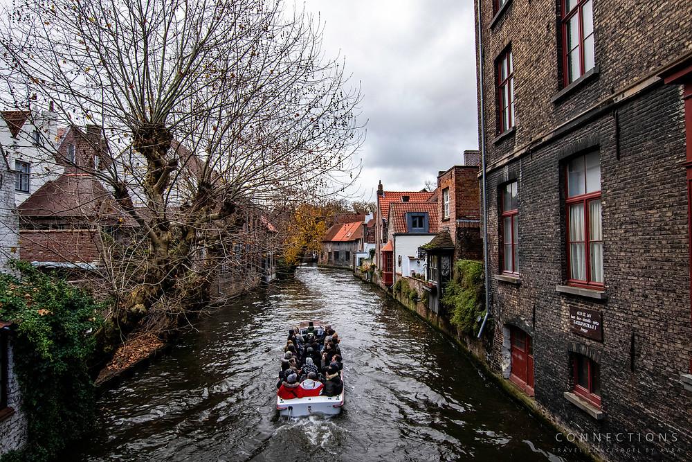 River town of Brugge, Belgium
