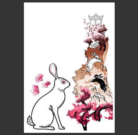 Cherryblossom Rabbit