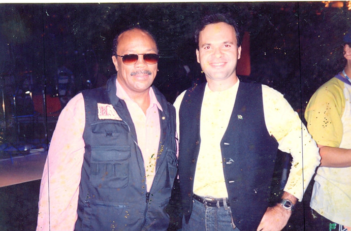 Ricardo Leão e Quincy Jones
