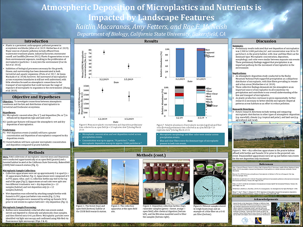 Atmospheric Deposition of microplastics.