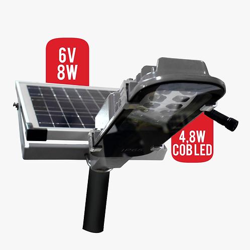 Lampara Solar 4,8W Cob Led Para Exteriores Panel Solar 8w (7160)