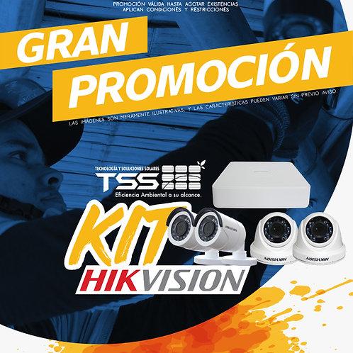 Kit HIKVISION Circuito Cerrado de Televisión.