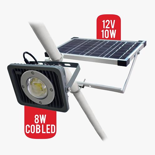 Lampara Solar 8W Cob Led Para Exteriores Panel Solar 10W