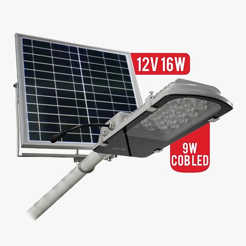 Lampara Solar 9W Cob Led Para Exteriores Panel Solar 16W