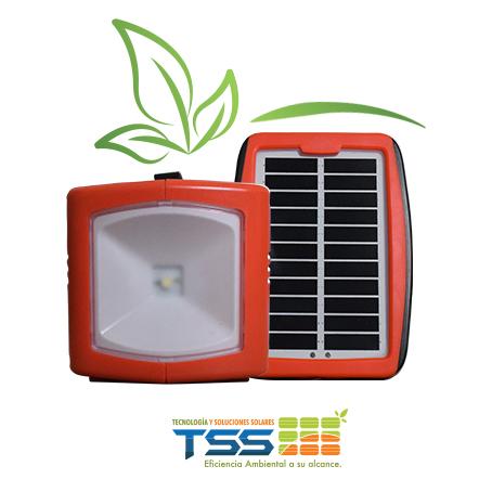 Cargador portable, linterna solar