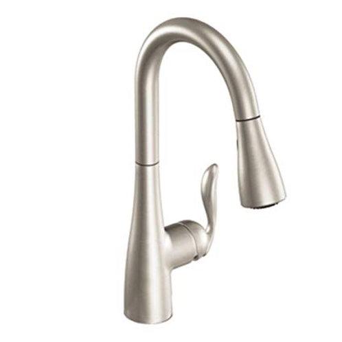 Moen Arbor™ 1.5 gpm Single Lever Handle Deckmount Kitchen Sink Faucet 360 Degree