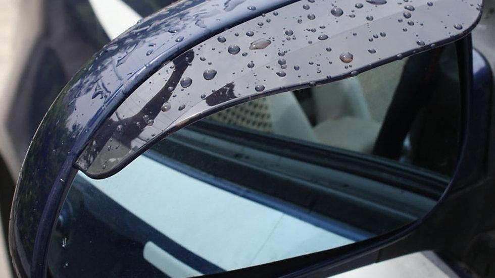 2pcs/Pair Car Rain Shield Flexible Rubber Car Rearview Mirror Rain Shade Visor