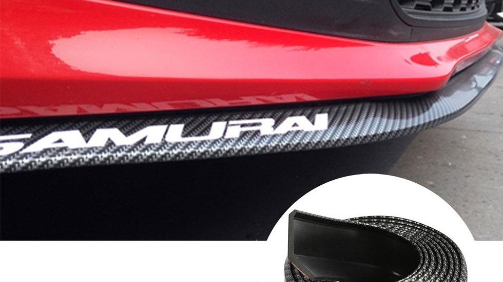 Universal Front Bumper Lip  Carbon Fibre Rubber Splitter Side Skirt Anti Scratch