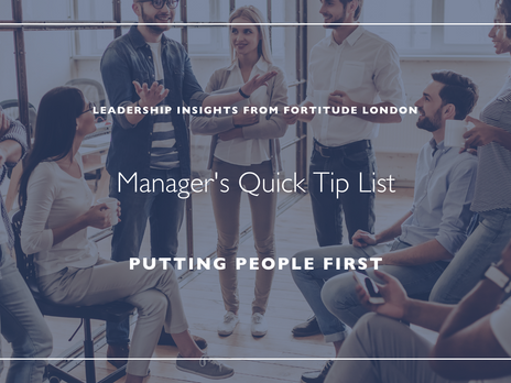 Manager's Quick Hit List: Putting People First