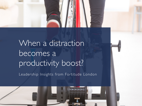Can a distraction become a productivity boost?