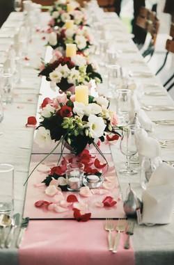 Matt & Karen's Wedding Table Setting