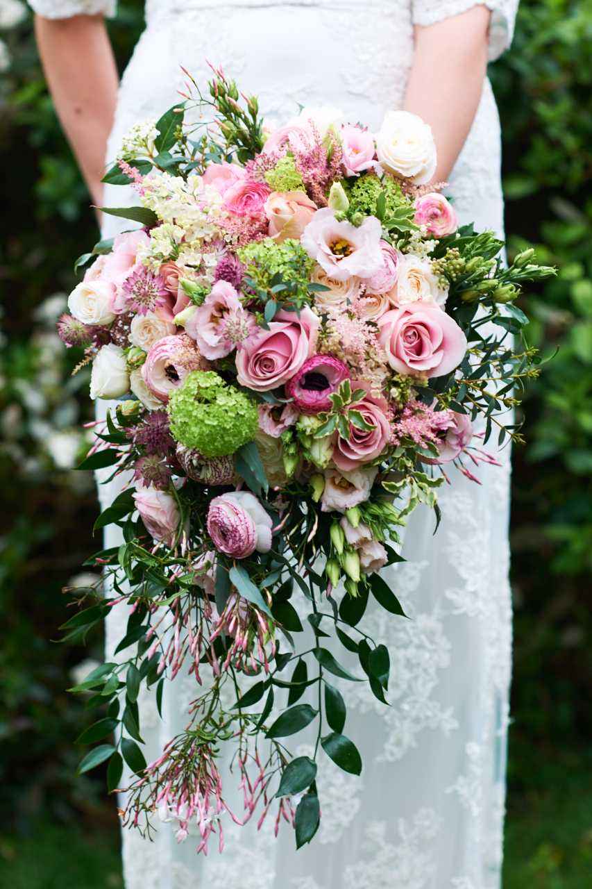 Trailing Wedding Bouquet