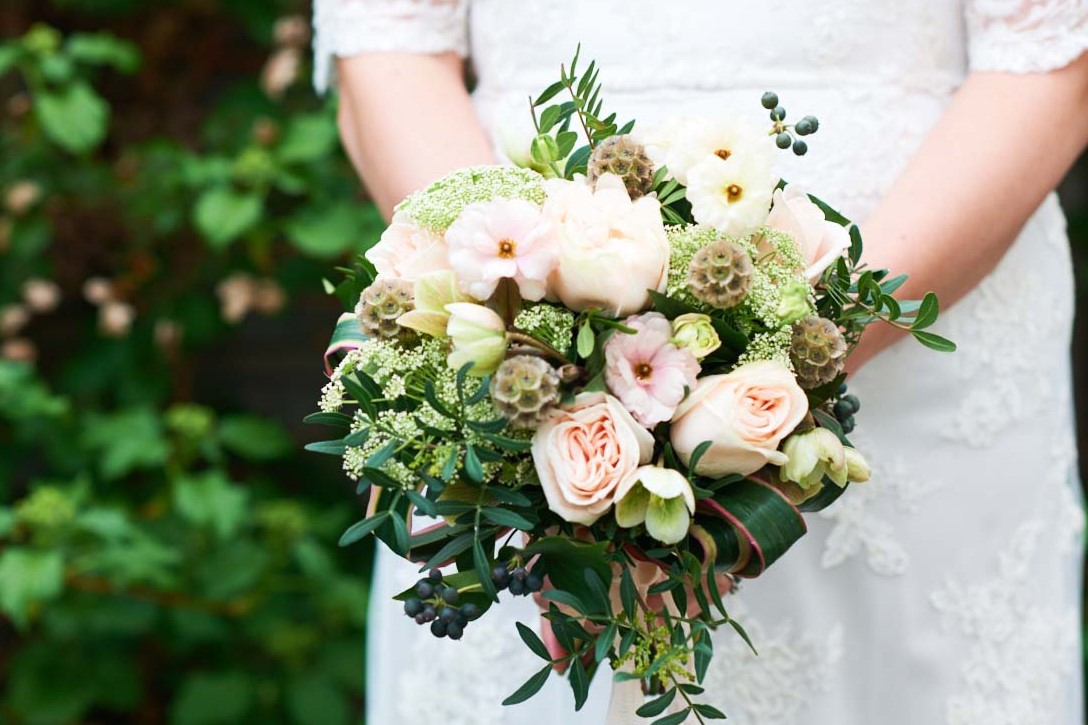 Hand Tie Posy Wedding Bouquet