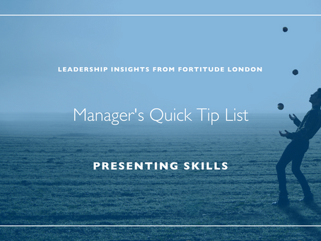 Manager's Quick Hit List: Presenting Skills