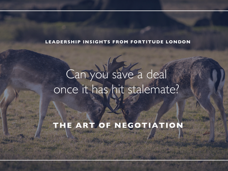 Can you save a deal once it has hit stalemate?