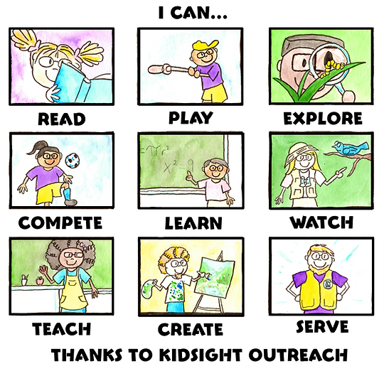 I Can... Thanks to KidSight Outreach