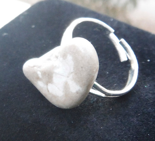 Slate & Ivory Ring