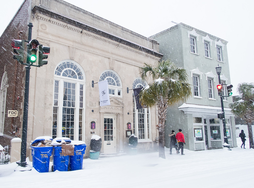 The Ordinary upper King Street Charleston snow