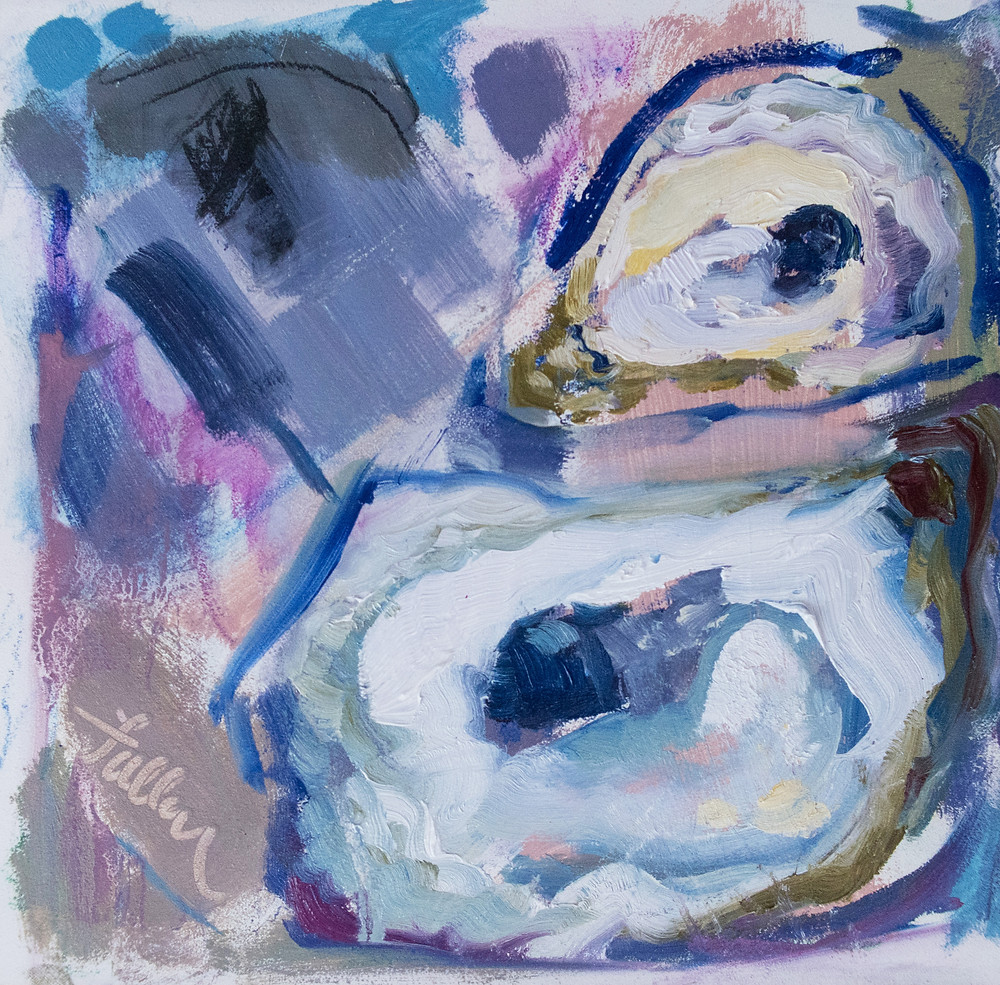 abstract oyster painting