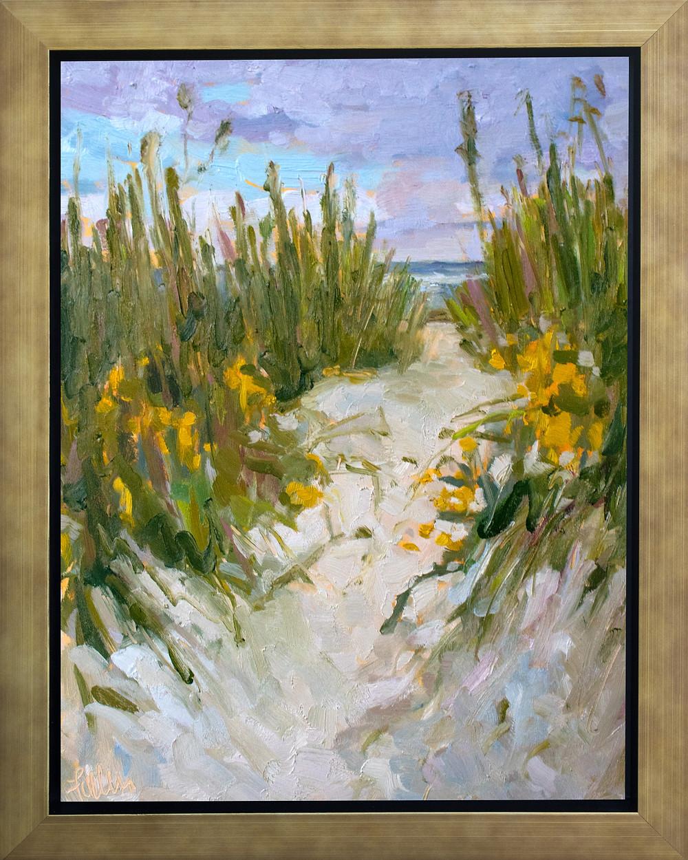 plein air beach oil painting