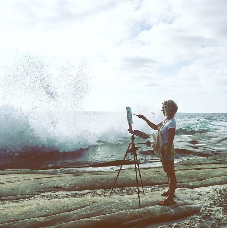 California coastalscape oil painting