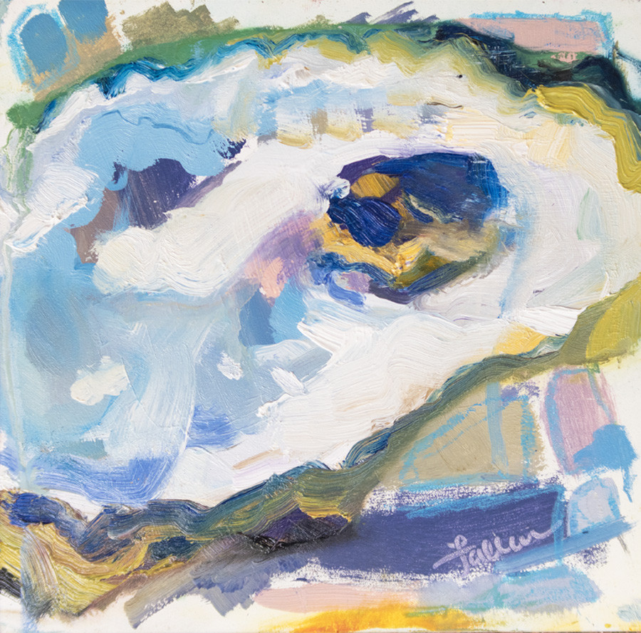 oyster abstract painting