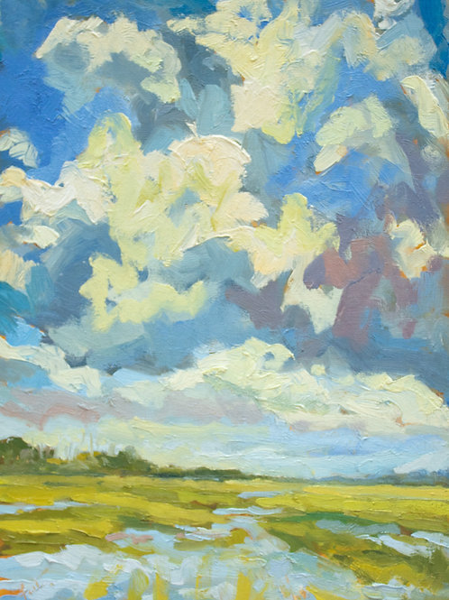 "Creek Clouds  l  16"" x 12"""