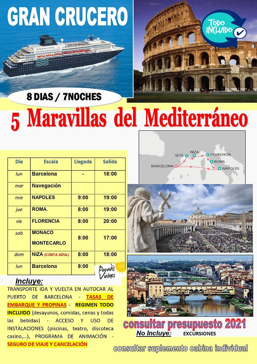 CRUCERO mediterraneo SAN ISIDRO JUNIO 20