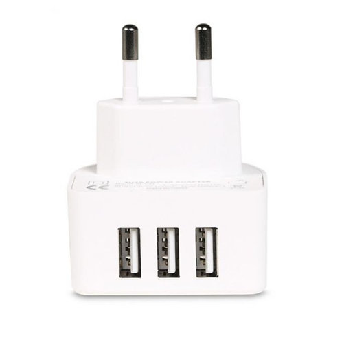 RP-U31  3.1A 3 USB Port Wall Charger - White.