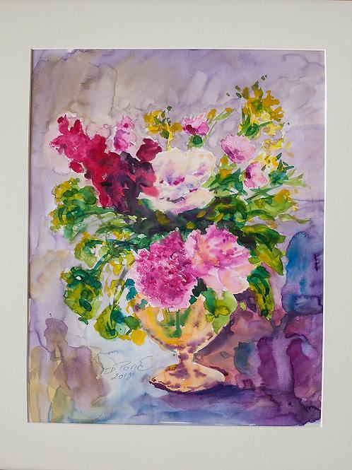 Vase am Tisch