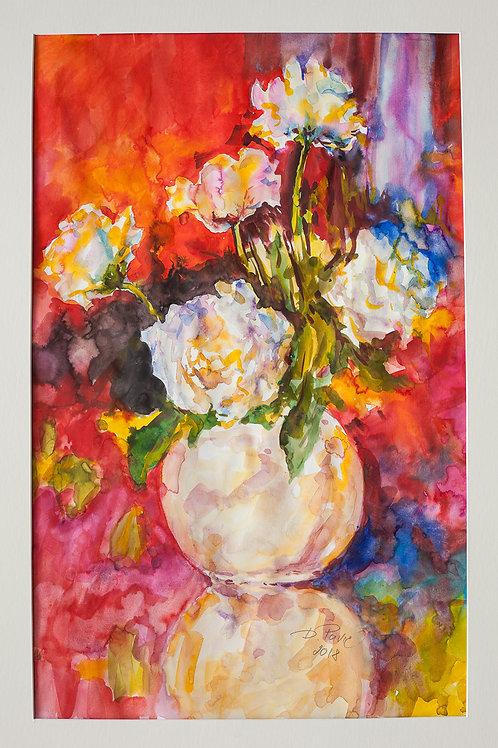 Weisse Vase